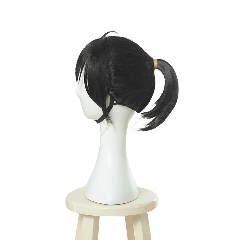 Image 4 - L email wig New Dororo Hyakkimaru Cosplay Wigs 40cm Black Heat Resistant Synthetic Hair Perucas Cosplay Wig-in Synthetic None-Lace  Wigs from Hair Extensions & Wigs
