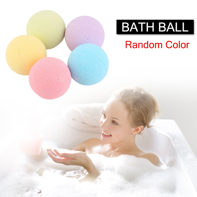 1 Pcs Organic Bath Salt Ball Natural Bubble Bath Bombs Ball Rose Green Tea Lavender Lemon Milk Random Color Bath Salts Ball