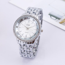 Chasy New Fashion Luxury brands DQG lovers watch Silver Stainless Steel Women Crystal Dress quartz Montre Femme Hot Sale