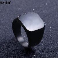 Size 7 15 Stainless Steel Classic Plain Simple Signet Ring Biker Punk Hiphop Jewelry Enamel Wedding