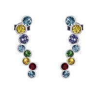 BAFFIN Crystals From SWAROVSKI Ear Cuff 925 Sterling Silver Clip Earrings For Women Wedding Party Piercing