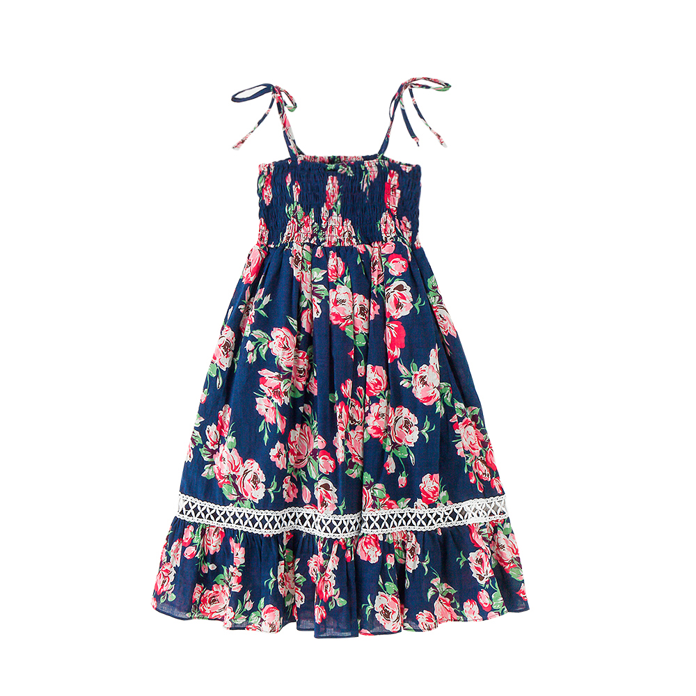 цены на B-S121 Summer New Fashion Girls Party Casual Bare Shoulder Dresses Princess Suspenders Dress 6-14T Teenager Kids Beach Dress