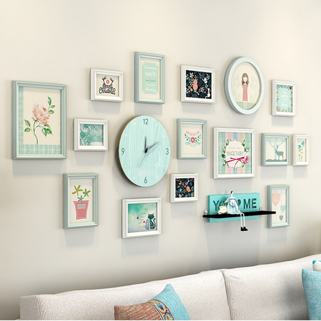 You And Me Love Design 15pcsset Wedding Photo Frames Wall Decor