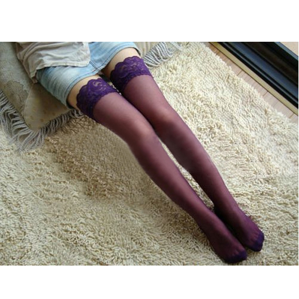 NEW Women Lady Sexy Ultrathin Elastic Lace Thigh- High Stockings Leggings  FS99