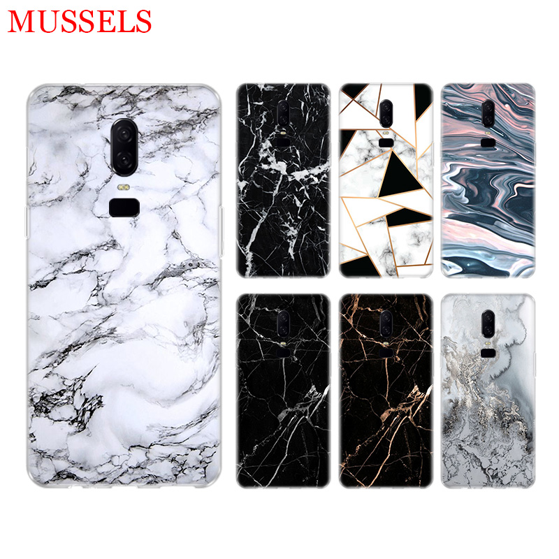 White Marble Leaves Phone Back Case for font b OnePlus b font font b 7 b