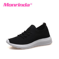 Sneakers Woman Sport Shoes Stretch Fabric Running Gym Shoe Lightweight Walking Zapatillas Sports Footwear Women Jogging Athletic