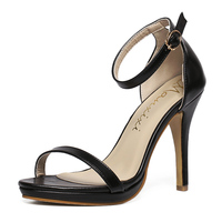 Women Pumps Sexy High Heels Buckle Shoes Woman Black Size35 40 Silver Gold Color Sandals