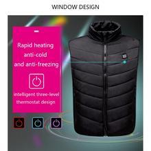 Men's Vest Mobile Power USB Charging Warm Electric Heated Vest Adjustable USB Charging Heated Clothing