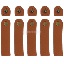 10PCS Bag Hasp Split Leather Buckle Button Handmade Wallet Card Pack with Holes for DIY Handbag Notebook Accessories
