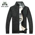 Envío gratis 2015 Marca Suéter de Los Hombres, Gruesa Masculina Rebeca de La Manera Hacia Fuera usa, Marca Ocasional de Los Hombres de Punto Outwear 140