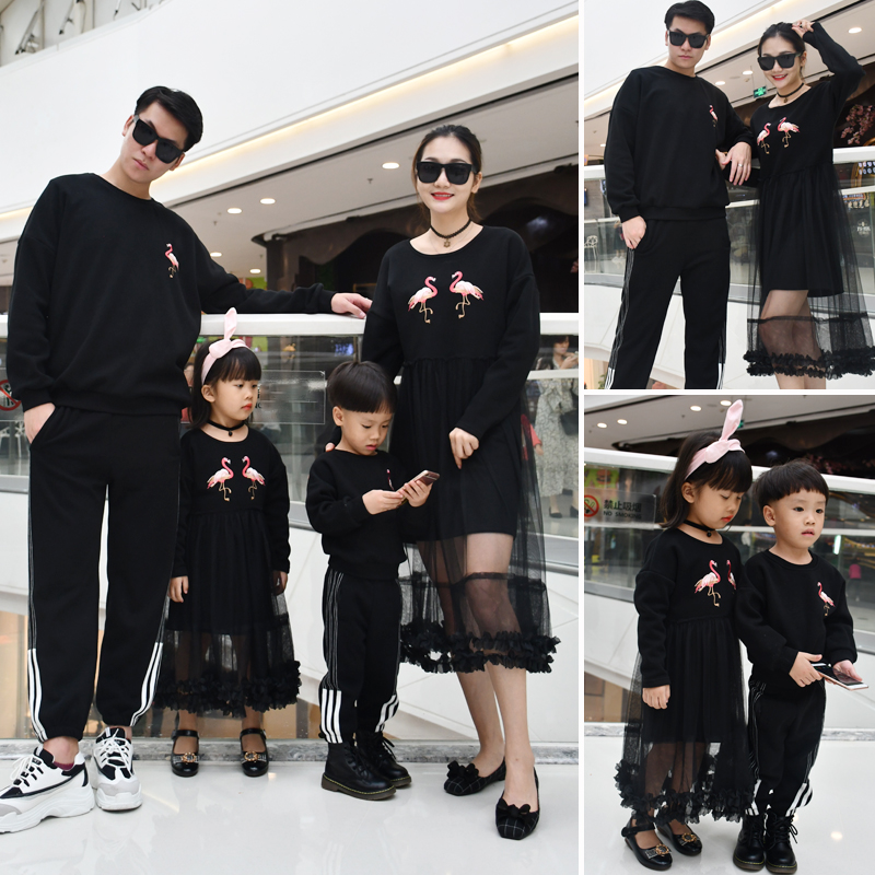 82b79a7c44891 US $16.13 5% OFF|Mother Daughter Dresses Flamingo Cartoon Clothes for  Family Dad Mom Baby Kids Matching Clothes Family Look Warm boys Sweaters-in  ...