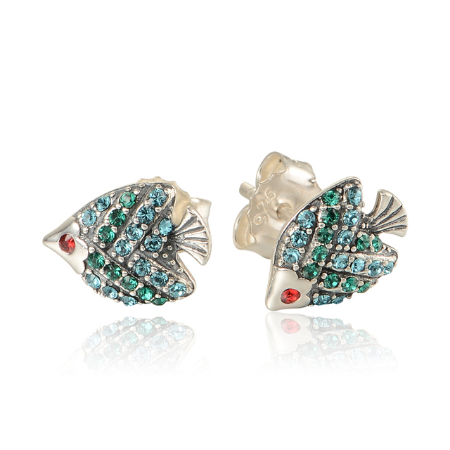 Compatível com europa impertinente azul cristal de prata gancho 925 de prata brincos para mulheres frete grátis