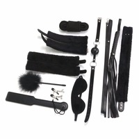 10Pcs Bondage Set Leather Fetish Adults Games Cuff Whip Sex Toys for Couples Slave Game SM Product Erotic Toys #E015C#