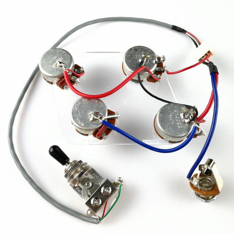1 Sett LP Elektrisk Guitar Pickup Wiring Harness For EPI SG LP Dot (1 Toggle Switch + 4 Potter + Jack)