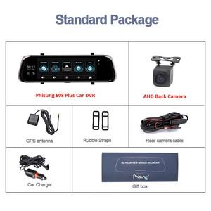 "Image 5 - Phisung E08 plus Car DVR 10""IPS Touch 4G Mirror DVR Android ADAS GPS FHD 1080P WIFI auto registrar rear view mirror with camera"