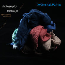 Photography Background Cloth Nostalgic Style Textile Gauze for Photo Studio Fine Foods Desktop Shooting Backdrops Accessories(China)