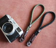 лучшая цена Foleto New fashion Vintage canvas PU Leather Organization Camera hand strap for DSRL Handmade Army green free shipping
