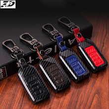 Carbon Fiber Leather Car Remote Key Case Chain Keyless Fob Cover For Honda Civic 2017 Accord Fit CRV CR-V XRV Crosstour HRV JAZZ car cover for honda accord 7 8 9 civic crv cr v fit vezel jazz 2017 2016 2015 2014 2013 waterproof sun protection cars covers