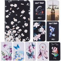 Butterfly Pattern PU Leather Wallet Flip Stand Case Cover Card Slots Anti Scratch Shell For Samsung
