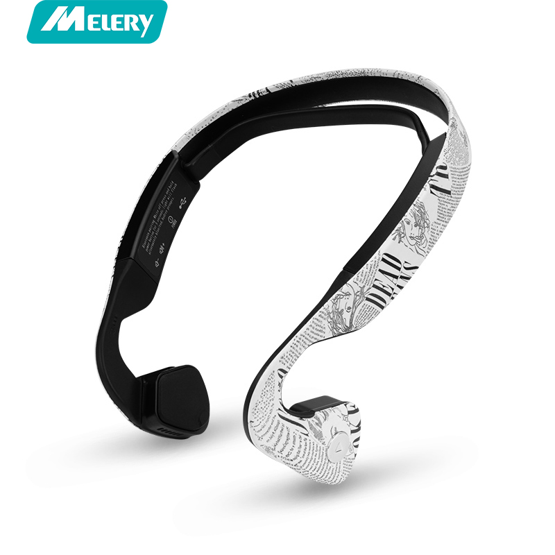 Melery Bone Conduction Bluetooth 4.0 Wireless Headphone Sports Headset Stereo Bass Earphone with Microphone for IPhone Andriod rock y10 stereo headphone earphone microphone stereo bass wired headset for music computer game with mic