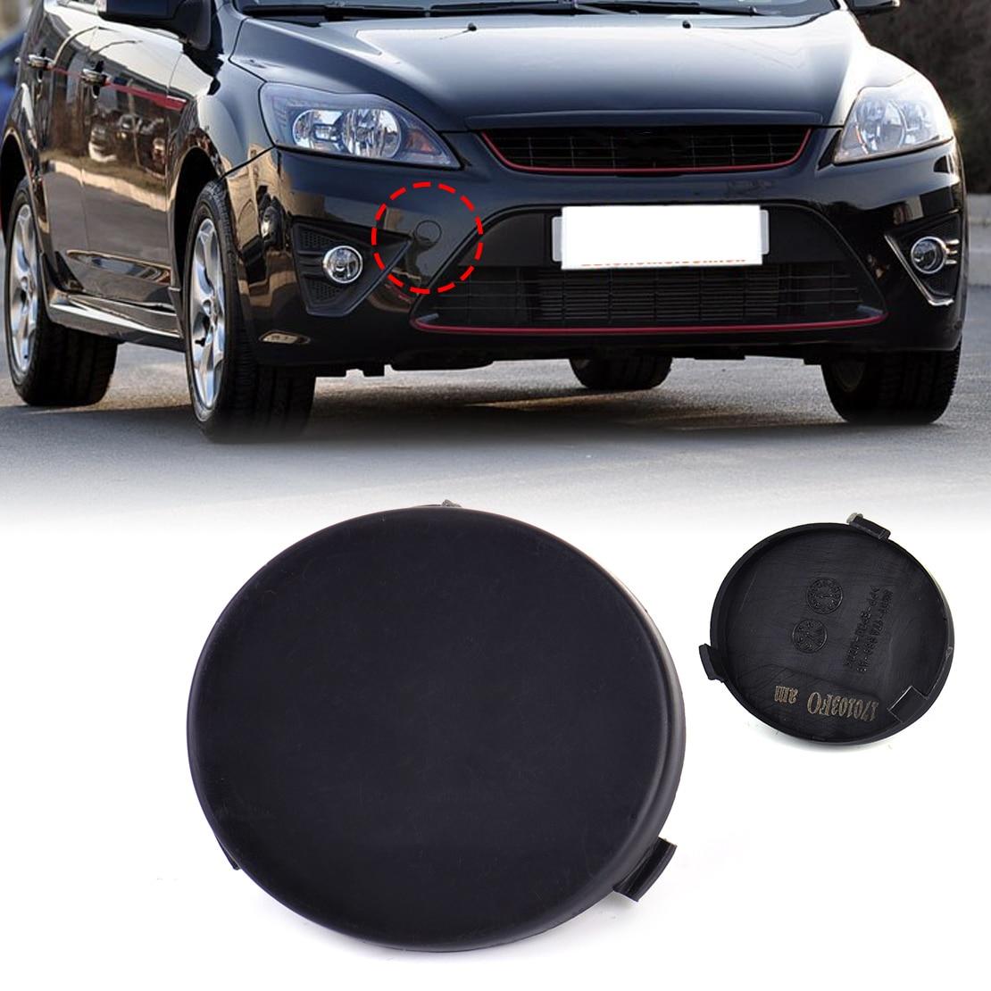 Dwcx Car Black Plastic Front Bumper Tow Hook Cover Cap