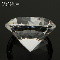 80mm Clear Crystal Diamond Shape Paperweight Glass Gem Display Ornament Wedding Home Decoration Art Craft Material