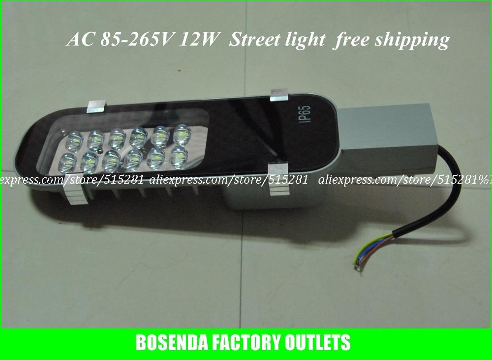 ФОТО High Brightness LED Street Lighting Road Lamp IP65 Waterproof  Aluminum Housing  AC85V ~ 265V 12W  1300LM