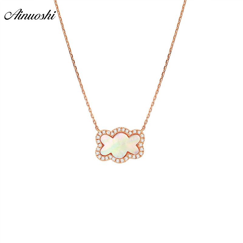 AINUOSHI Pure 18K Rose Gold Lovely Bear Pendant Necklace Natural Pink Onyx Female Pendant Real Diamond Jewelry ainuoshi pure 18k white gold female diamond sets natural white onyx round shaped earring pendant necklace bracelet jewelry sets