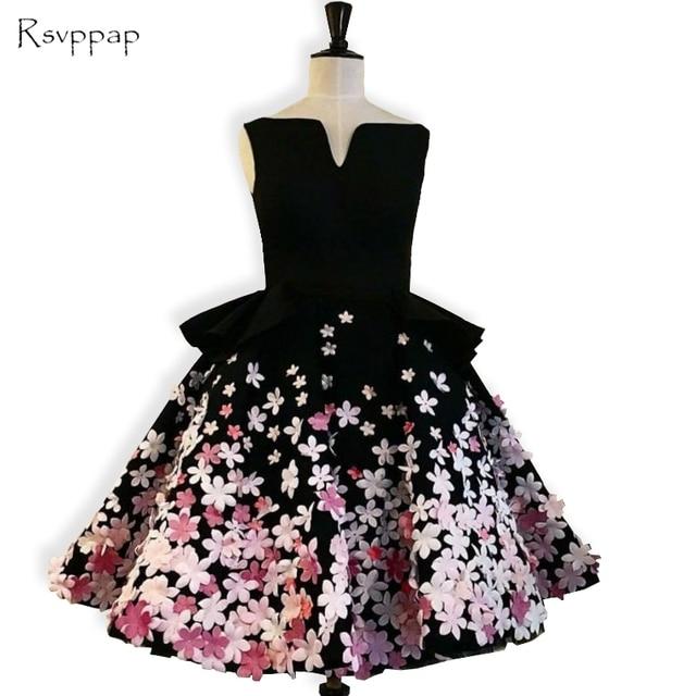 Sweet 8th Grade Prom Dresses A Line Sleeveless Handmade Flowers