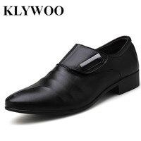 KLYWOO Big Size 38 48 Business Men S Leather Wedding Dress Shoes Luxury Brand Formal Wearing