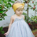 Instagram горячий продавать летняя мода мать дочь платья полосатый отпечатано с сетки пачка стиль розничная