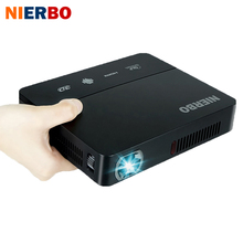 NIERBO LED Pocket Projektor Heimkino Batterie 1080 P voller hd Projektor Android 3D 1280*800 Video Projektor drahtlose HDMI USB
