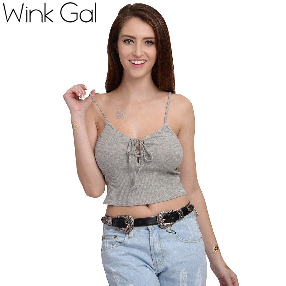 Aliexpresscom  Buy Wink Gal Sexy Women Tops Tanks Camis -7464