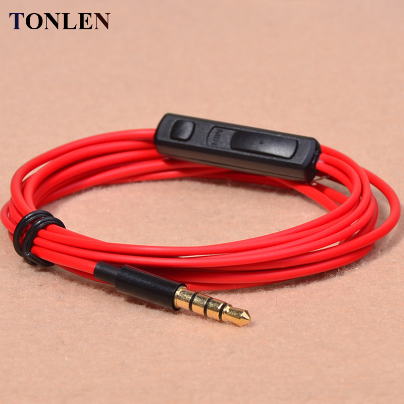 TONLEN 3.5mm headphone adapter Earhopne Wire 1.2m HIFI Headphones DIY Cable Headset by microphone repair headphone cable wires