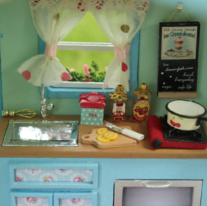 dollhouse lighting. DIY Wooden Doll Houses Miniature Dollhouse Lighting Furniture Kit Toys For Children Gift Time Travel -in From \u0026 Hobbies On I