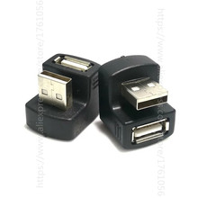 New Up or down Right Angled USB 2.0 Adapter A Male to Female Extension 90 180 Degree Black 180 degree up