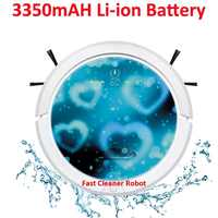 Remote Control Mi ni Vacuum Cleaner Robot QQ6 With Water Tank (Wet and Dry Mop),Li-ion battery