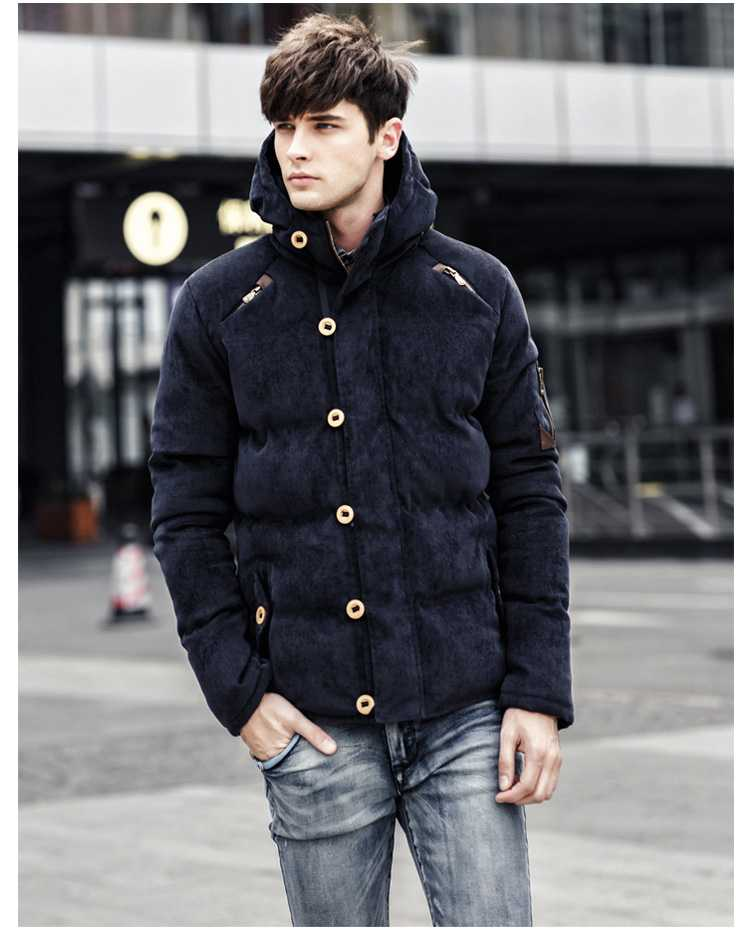 New 2016 Men Hooded Thicken Warm Parkas Fashion Winter Coat Men Wadded Thermal Jacket Outerwear Plus Size 3XL H6268 2015 new hot winter thicken warm woman down jacket coat parkas outerwear luxury straight hooded mid long plus size high original