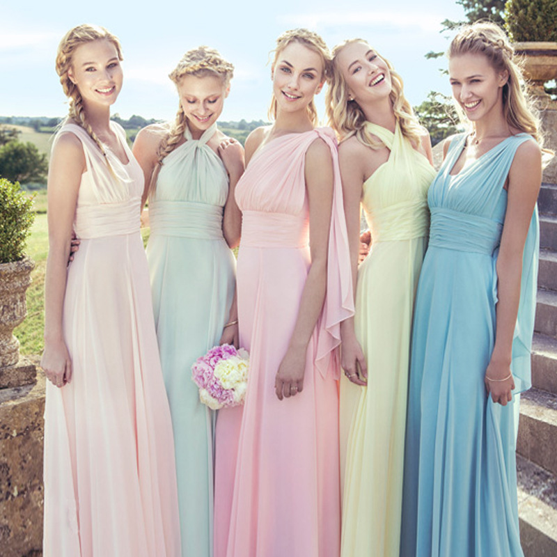 Variety To Wear Dresses Chiffon Long Bridesmaid Y Dress Multicolor Prom Party Rom80069 In From Weddings