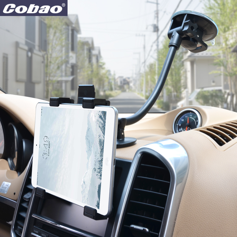 Universal Tab Car Holder Tablet Windshield Stand Mount Long Arm Support Holders 360 Rotation with 5'' & 11'' Holder for Tablet стоимость