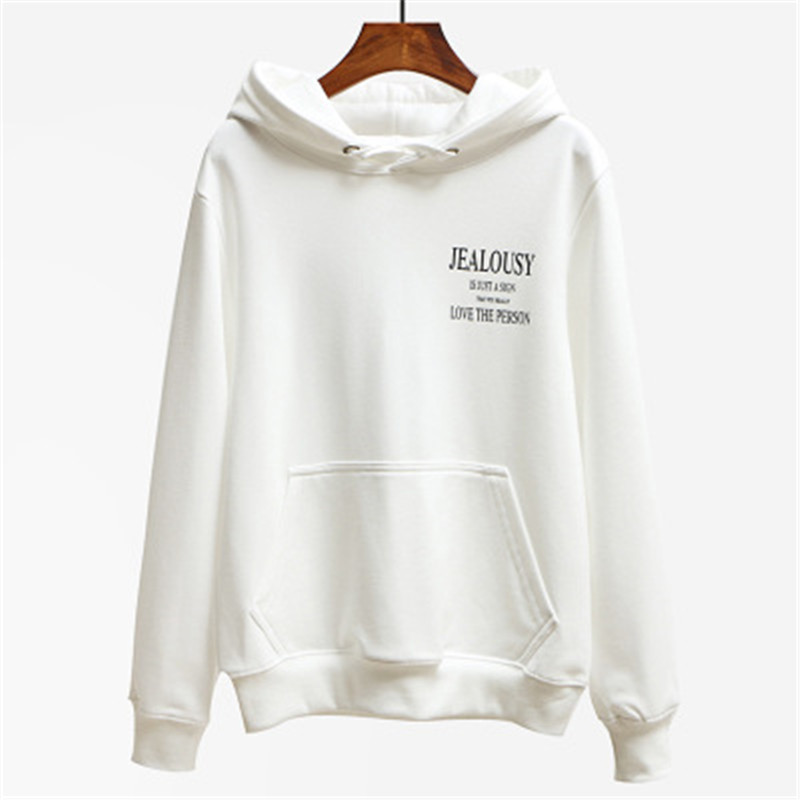 new Spring women loose before and after the letter printed casual hooded super junior sweatshirts Feminina Inverno clothes