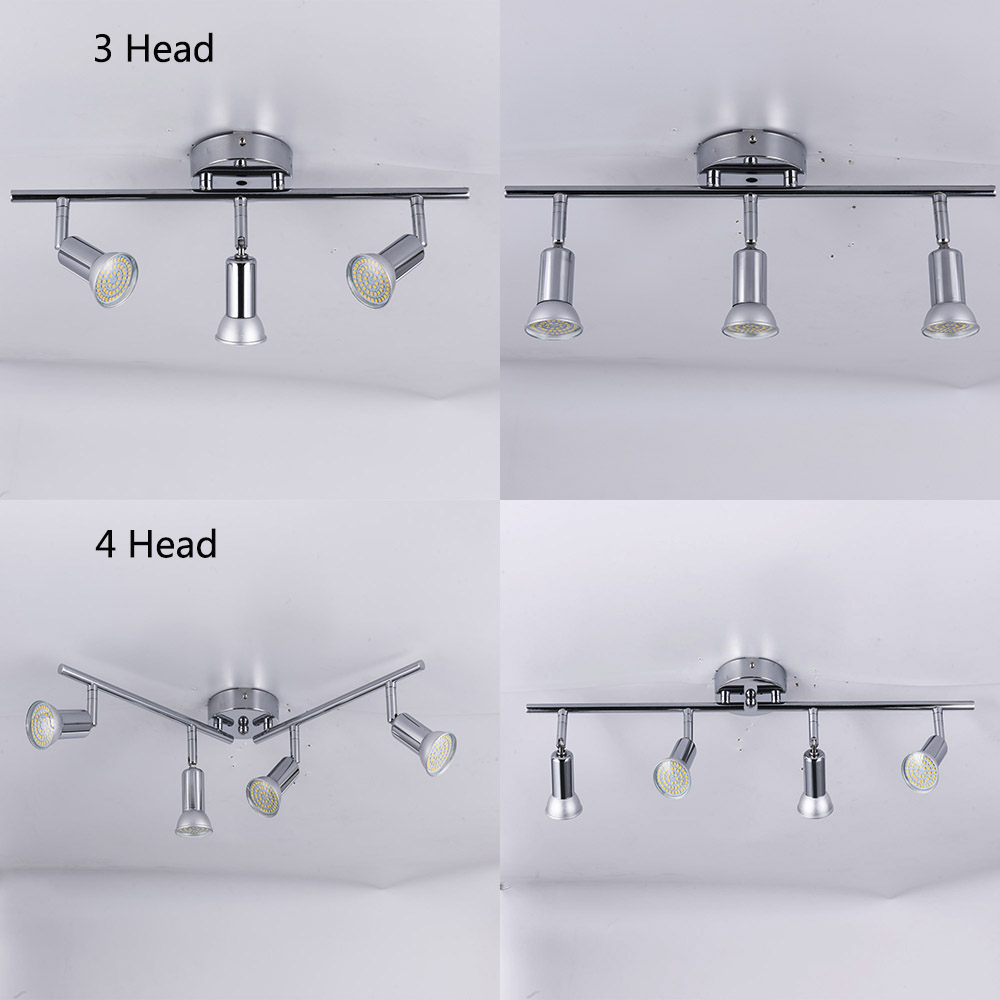 HTB16cMiadzvK1RkSnfoq6zMwVXay Rotatable led ceiling light angle adjustable showcase lamp with GU10 led bulb Living Room LED cabinet spot lighting