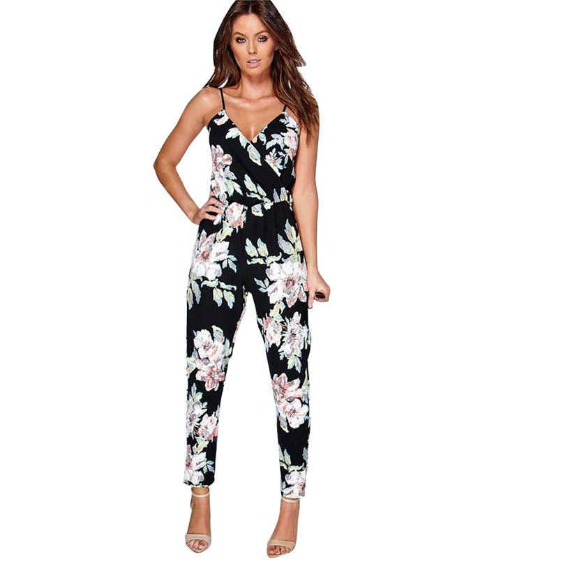dd11970765 Summer Jumpsuit Fashion Hot Sale Women Beach Clubwear Pants Summer Playsuit  Bodycon Party Jumpsuit Elegant Trousers