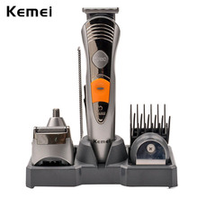 7-in-1 Rechargeable Adjustable Clipper Hair Trimmer Electric Beard Shaver Nose Ear Trimmer Grooming Kit Trimmer Kit RCS100GQ-P00