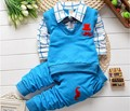 BibiCola 2015 new spring autumn baby boys clothing set cotton boys t-shirts+pants sport suit set children gentleman clothes set