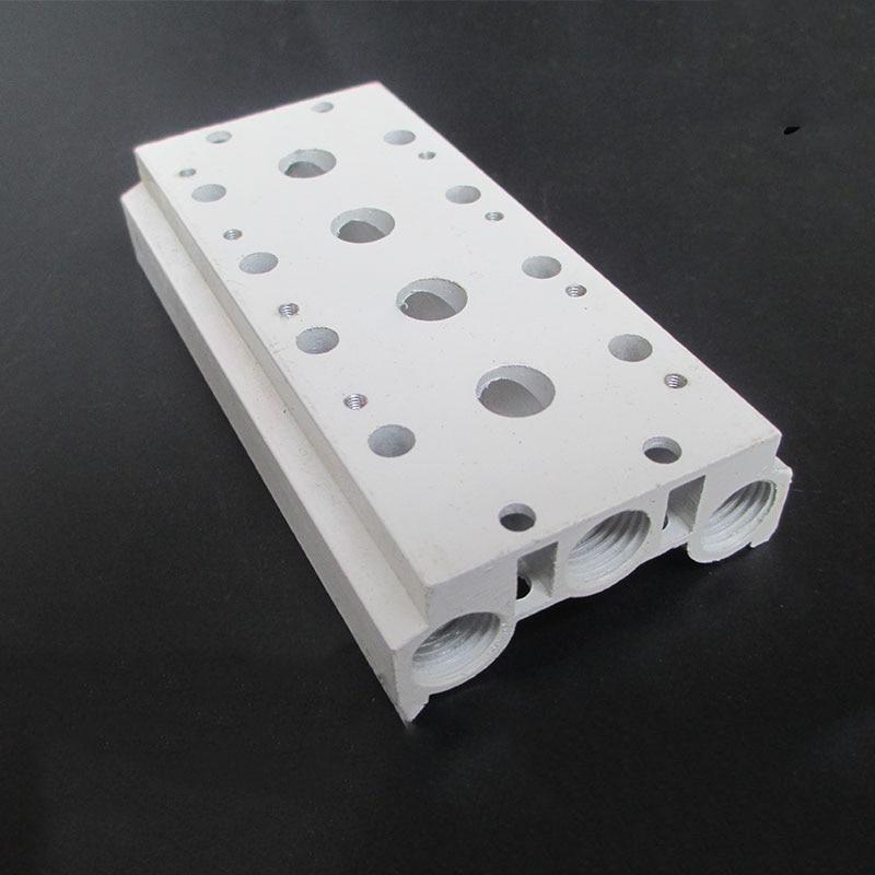5 Station Pneumatic Solenoid Valve Manifold 4V210-08 4V220-08 4V230-08 Airtac Type Manifold / Base / Board 200M-5F 4A210-08 4v210 08 4v210 4v220 valves air exhaust manifold 200m 10f pneumatic base 10 position solenoid valve plate