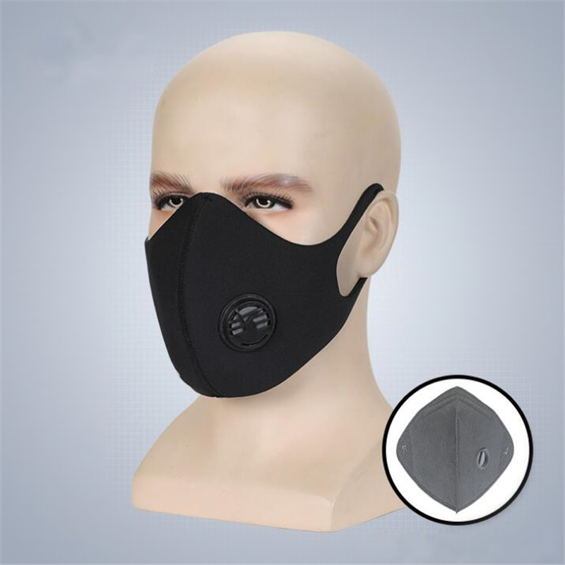CKAHSBI Cycling Face Mask Sport Bicycle Bike Mask PM 2.5 Dustproof Training Mask +Activated Carbon Filter Breathable Face Shield