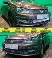 Malha grille para Volkswagen Polo 2015-estilo do carro moldagem decoração proteção cromo ou preto pad capa