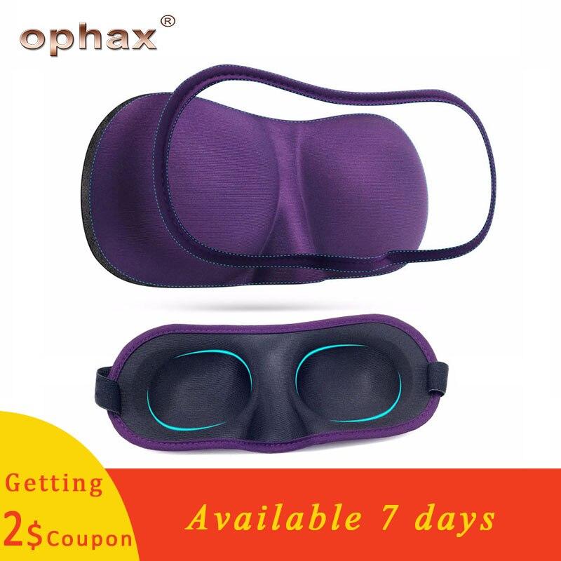 OPHAX de alta calidad 3D máscara de dormir suave de espuma de memoria visera dormir máscara de ojo resto ayuda de venda ojo parche