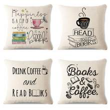 New Design Book Pillow Reader Fun Alphabet Letters Typeface Poster Art Decor Coffee Tea Cup Back Cushion For Cafe Table Chair(China)